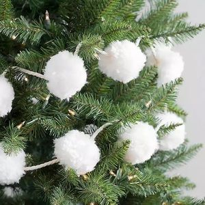 NWT Pompom Garland Decor Boho Shabby Chic for DIY Christmas Tree Decor or Wreath